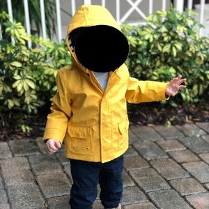 Tommy Hilfiger Toddler Raincoat Yellow/Navy